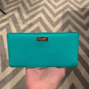 Kate Spade Turquoise Snap Wallet